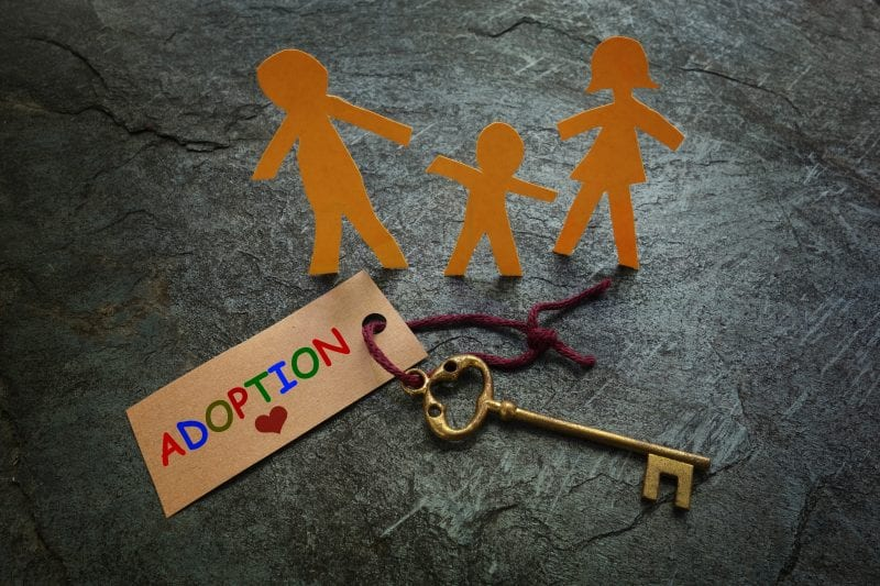 Adoption with family cutout