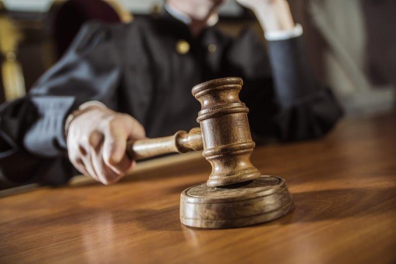 Judge slamming gavel down