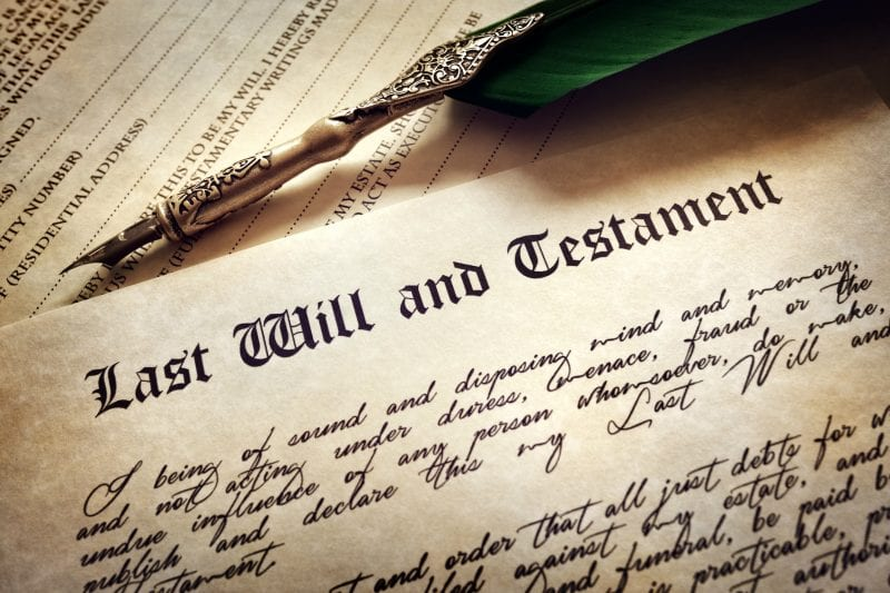 last will and quill pen