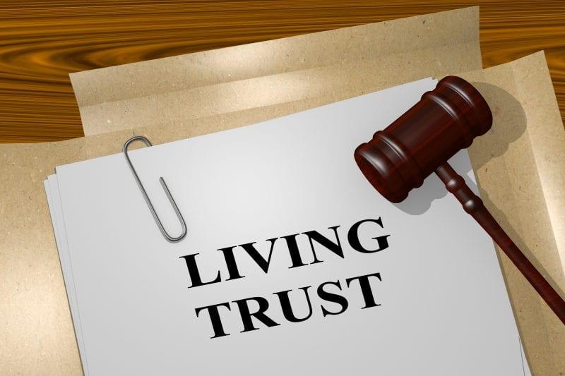 Living trust w gavel