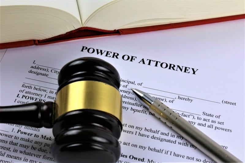 power of attorney with gavel