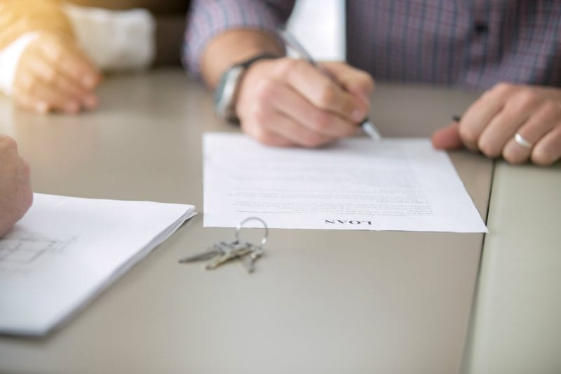 signing loan papers